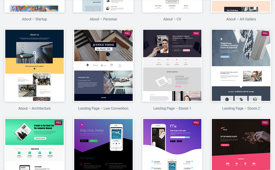 WordPress Drag and Drop Page Builder Templates