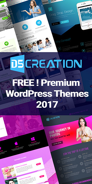 The Best Premium WordPress Themes by D5 Creation